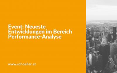 Event: Neueste Entwicklungen im Bereich Performance-Analyse